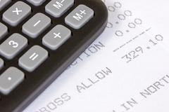 receipt of  allowance - stock photo