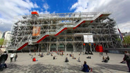 Stock Video Footage of The Pompidou cultural center in Paris, France, HD