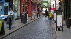 Temple Bar Dublin Stock Footage