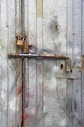 rusty latch - stock photo