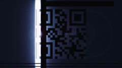 Scanning a QR Code - stock footage