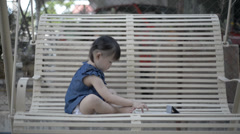 Child with tablet Stock Footage