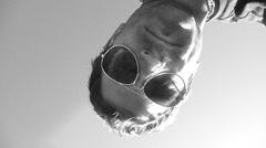 Abstact Underwater Man Stock Footage