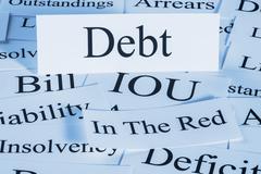 Debt concept Stock Photos