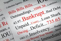 Bankrupt concept Stock Photos