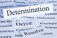 determination concept - stock photo
