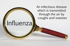 Influenza concept Stock Photos