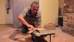 Fixing Floor Stock Footage
