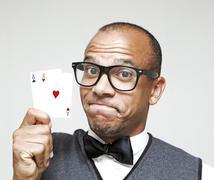 Geek Winning - stock photo