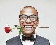 Geek in Love - stock photo