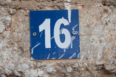 sixteen 16 - stock photo