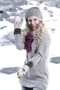 Stock Photo of winter fashion beauty girl