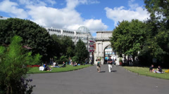 St Stephens Green 1 Stock Footage
