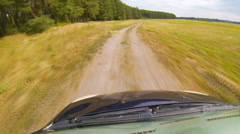 Driving a car through the countryside Stock Footage