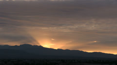 Crepuscular Sunset - A:  Time lapse - stock footage