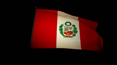 Flag Peru 01 Stock Footage