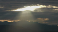 Stock Video Footage of Crepuscular Clouds - A:  Time lapse