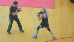 Olympic Boxer Marlen Esparza Training Stock Footage