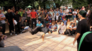 Stock Video Footage of B-Boy Breakdance Battle - Long Sequence 01