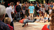 Stock Video Footage of B-Boy Breakdance Battle - Medium Sequence 01