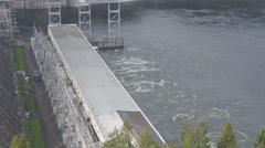 Krasnoyarsk hydroelectric power station 11 Stock Footage