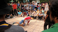 Stock Video Footage of B-Boy Breakdance Battle - Long Sequence 05