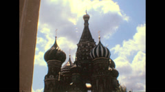 Moscow 1974: Saint Basil's Cathedral - stock footage