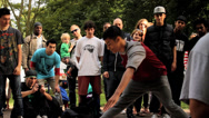 Stock Video Footage of B-Boy Breakdance Battle - Long Sequence 06