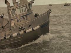 Alaska fishing boat 1 Stock Footage
