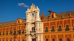 Palatsi San Telmo andalusialainen presidentin toimisto Sevilla Espanja Kuvituskuvat
