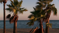Mediterranean seascape Stock Footage