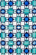 Traditional portuguese glazed tiles Stock Photos