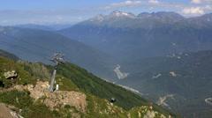 "Gondola lift to the observation deck ""rose peak"" in krasnaya polyana. Stock Footage"