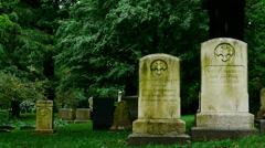 Gravestones Pan Stock Footage