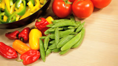 Fresh Organic Stir Fried Vegetables - stock footage