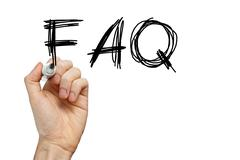 faq frequently asked questions - stock photo