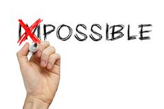 turning the word impossible into possible - stock photo