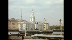 Leningrad 1974:  from the Kunstkamera to Saint Peter and Paul fortress Stock Footage