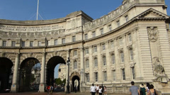 Admiralty Arch, LONDON, UK. (LONDON Admiralty Arch 2) Stock Footage