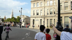 Panning from Admiralty Arch to the street, London UK(LONDON Admiralty Arch 3c) Stock Footage