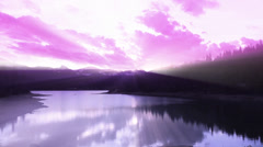 Time Lapse Sunset Reflection #9 Stock Footage