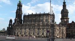 St. Trinitatis Church In Dresden Stock Footage