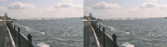 Saratov Embankment Of Cosmonauts Stereoscopic 3D Stock Footage