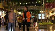 Stock Video Footage of Shoppers at Asiatique Mall 5504