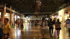 Shoppers at Asiatique Mall  Stock Footage