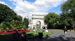 St Stephens Green 2 Stock Footage