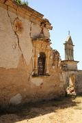 old ruins of sassia monastery - stock photo