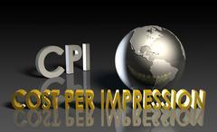 Cost per impression Stock Illustration