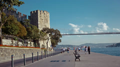 Rumeli Castle Stock Footage
