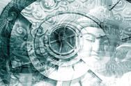 Mystical asia montage Stock Illustration